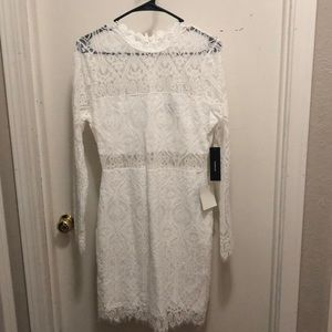 White dress perfect for bridal events!